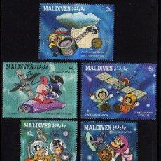 Sellos: MALDIVES - PRECIOSA SERIE DE 5 SELLOS - WALT DISNEY - AÑO 1987 - EXPLORACION DEL ESPACIO. Lote 26314527