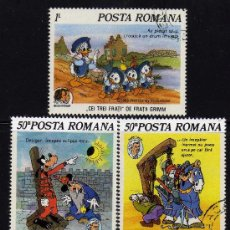 Sellos: POSTA ROMANA (RUMANIA) - PRECIOSA SERIE DE 5 SELLOS - WALT DISNEY - AÑO 1985. Lote 26315509