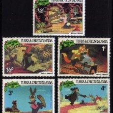 Sellos: TURKS & CAICOS ISLANDS - PRECIOSA SERIE DE 5 SELLOS - WALT DISNEY - NAVIDAD 1981. Lote 26316038