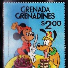 Sellos: 50 ANIVERSARIO PLUTO - W. DISNEY - GRNADA/ GRENADINES - 1 SELLO - ALTO FACIAL- S.COMPLETA - AÑO 1980. Lote 27280364