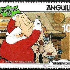Francobolli: ANGUILLA 1981 SCOTT 458 SELLO ** WALT DISNEY CHRISTMAS NAVIDAD LA NOCHE DE NAVIDAD PAPA NOEL Y REGAL. Lote 202088505