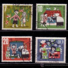 Sellos: ALEMANIA 241/44 - AÑO 1961 - CUENTOS DE LOS HERMANOS GRIMM - HANSEL Y GRETEL. Lote 28719550