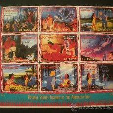 Sellos: GUAYANA 1995 IVERT 3833/41 *** DIBUJOS DE WALT DISNEY - POCAHONTAS (II). Lote 31800801