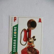 Sellos: SELLO NAVIDAD 1995 ANTIGUO JUGUETE DE DISNEY MICKEY MOUSE TELEFONO. Lote 32262549