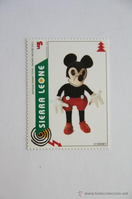 SELLO NAVIDAD 1995 ANTIGUO JUGUETE DE DISNEY MUÑECO MICKEY MOUSE (Sellos - Temáticas - Infantil)