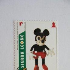 Sellos: SELLO NAVIDAD 1995 ANTIGUO JUGUETE DE DISNEY MUÑECO MICKEY MOUSE. Lote 32262569