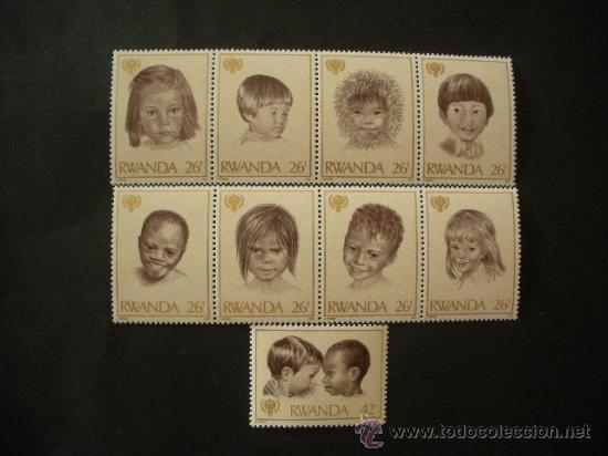 RWANDA 1979 IVERT 886/94 *** AÑO INTERNACIONAL DEL NIÑO (Sellos - Temáticas - Infantil)