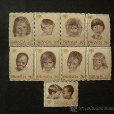 Sellos: RWANDA 1979 IVERT 886/94 *** AÑO INTERNACIONAL DEL NIÑO. Lote 32902273