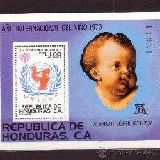 Sellos: HONDURAS HB 29*** - AÑO 1980 - UNICEF - AÑO INTERNACIONAL DEL NIÑO - PINTURA - OBRA DE DE DURERO. Lote 37682531