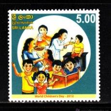 Sellos: SRI LANKA 1862** - AÑO 2012 - DIA MUNDIAL DE LA INFANCIA. Lote 39336634