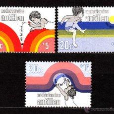 Sellos: ANTILLAS HOLANDESAS 439/41** - AÑO 1972 - PROTECCION DE LA INFANCIA. Lote 39929347