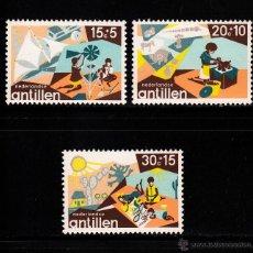 Sellos: ANTILLAS HOLANDESAS 495/97** - AÑO 1975 - PRO OBRAS DE INFANCIA. Lote 39929384