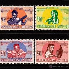 Sellos: ANTILLAS HOLANDESAS 398/401** - AÑO 1969 - LOS NIÑOS Y LA MUSICA - PRO INFANCIA. Lote 39980282