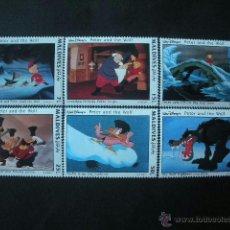 Timbres: MALDIVAS 1993 *** PEDRO Y EL LOBO - DIBUJOS DE WALT DISNEY - INFANTIL. Lote 40360864