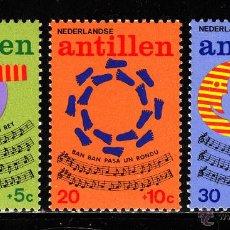 Sellos: ANTILLAS HOLANDESAS 477/79** - AÑO 1974 - PRO INFANCIA - CANCIONES INFANTILES. Lote 40449490