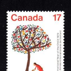 Sellos: CANADA 720** - AÑO 1979 - AÑO INTERNACIONAL DEL NIÑO. Lote 40777742