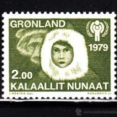 Sellos: GROENLANDIA 106** - AÑO 1979 - AÑO INTERNACIONAL DEL NIÑO. Lote 41260861