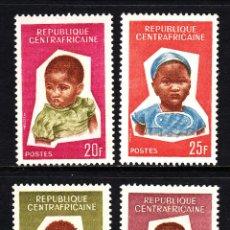 Sellos: CENTROÁFRICA 37/40** - AÑO 1964 - NIÑOS AFRICANOS. Lote 41412900