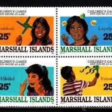 Sellos: MARSHALL 283/86** - AÑO 1990 - JUEGOS INFANTILES. Lote 42235131