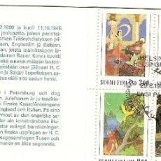 Sellos: FINLANDIA CARTEIRA & CENT. NASC. DE RODOLF KOIVU (1890-1946) ILUSTRADOR DE CONTOS 1990 (1080). Lote 43752947