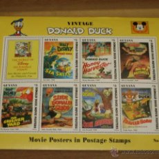 Briefmarken - LAMINA DE SELLOS Nº 4 VINTAGE DONALD DUCK MOVIE POSTERS - GUYANA - - 47619043
