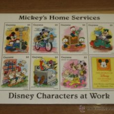 Briefmarken - LAMINA DE SELLOS DISNEY MICKEY´S HOME SERVICES - GUYANA - - 47619087
