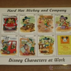 Briefmarken - LAMINA DE SELLOS DISNEY HARD HAT MICKEY AND COMPANY - GUYANA - - 47619100