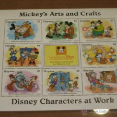 Briefmarken - LAMINA DE SELLOS DISNEY MICKEY´S ARTS AND CRAFTS - GUYANA - - 47619108