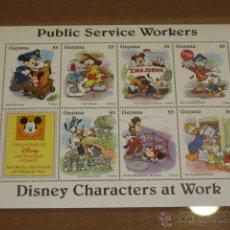 Briefmarken - LAMINA DE SELLOS DISNEY PUBLIC SERVICE WORKERS - GUYANA - - 47619220