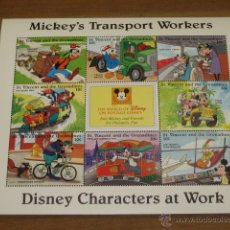 Sellos: LAMINA DE SELLOS DISNEY MICKEY´S TRANSPORT WORKERS - ST. VINCENT AND THE GRENADINES . Lote 47619272