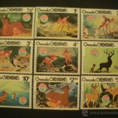 Sellos: GRANADA & GRANADINAS 1980 IVERT 369/77 *** NAVIDAD - PERSONAJES DE WALT DISNEY - BAMBI. Lote 50639109