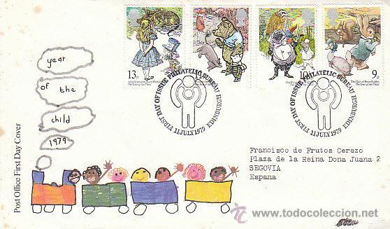 INGLATERRA IVERT 896/9, AÑO INTERNACIONAL DEL NIÑO.DIBUJOS DE POTTER, PRIMER DIA DE 11-7-1979 (Sellos - Temáticas - Infantil)