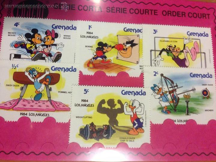 SERIE 6 SELLOS GRENADA DISNEY (Sellos - Temáticas - Infantil)