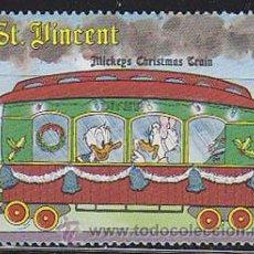 Sellos: SAN VICENTE, EL TREN MICKEY (MOUSE) DE NAVIDAD, EL PATO DONALD, NUEVO ***. Lote 53867061