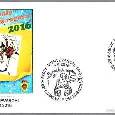Sellos: MATASELLOS CARNAVAL INFANTIL - PINOCHO. MONTEVARCHI, ITALIA, 2016. Lote 56697803