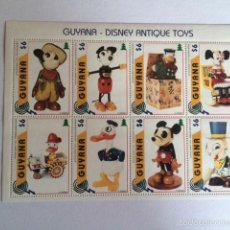 Sellos: WALT DISNEY GUYANA 1996 HB ANTIQUE TOYS. Lote 58369530
