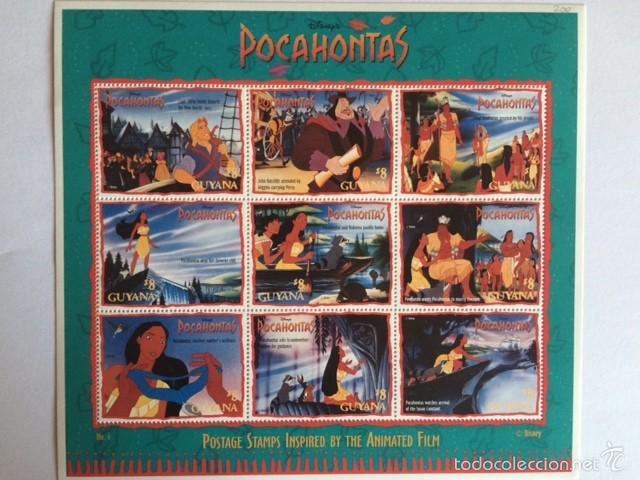 WALT DISNEY GUYANA 1995 HB POCAHONTAS (Sellos - Temáticas - Infantil)