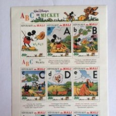 Sellos: WALT DISNEY REPUBLICA DE MALI 1996 ABC MICKEY. Lote 58369659