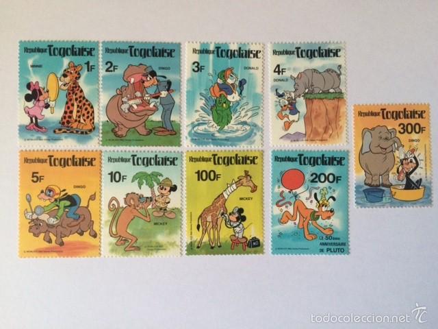 WALT DISNEY TOGOLAISE PERSONAJES 1980 (Sellos - Temáticas - Infantil)