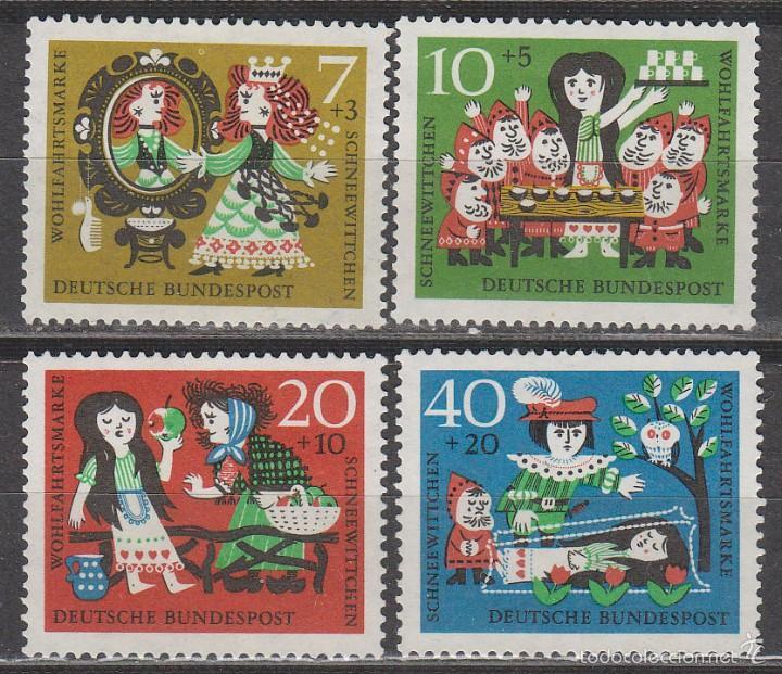 ALEMANIA IVERT 257/60, BLANCANIEVES DE LOS HERMANOS GRIMM, NUEVO (SERIE COMPLETA) (Sellos - Temáticas - Infantil)