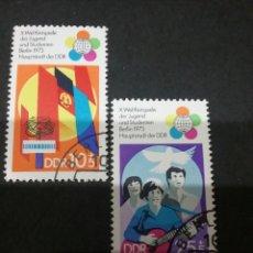 Sellos: SELLOS DE LA R. D. ALEMANA MTDOS. 1973. BANDERAS. PALOMA. JUVENTUD. FESTIVAL. PALOMA.GUITARRA.. Lote 105950492