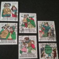 Sellos: SELLOS DE LA R. D. ALEMANA (DDR) MTDOS.1977. CUENTOS. GRIMM. SOPLADOR. REY. SOLDADO.FORZUDO.CORREDOR. Lote 105987580