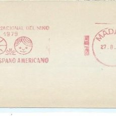 Sellos: 1979. MADRID. FRANQUEO MECÁNICO/METER. AÑO INTERNACIONAL DEL NIÑO. INTERNATIONAL YEAR OF THE CHILD.. Lote 112025887