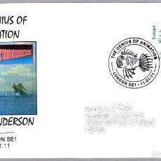 Sellos: MATASELLOS SERIE DE TELEVISION THUNDERBIRDS - GERRY ANDERSON. LONDON 2011. Lote 112457831