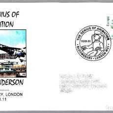 Sellos: MATASELLOS SERIE DE TELEVISION THUNDERBIRDS - GERRY ANDERSON. BLOOMSBURY, LONDON, 2011. Lote 112458263