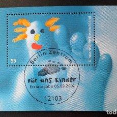 Timbres: HOJA BLOQUE 2002 ALEMANIA PARA LOS NIÑOS. Lote 113079623