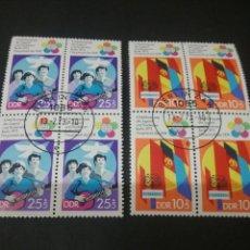 Sellos: SELLOS DE LA R. D. ALEMANIA(DDR) MTDOS. 1973. BANDERAS. PALOMA. JUVENTUD. FESTIVAL. PALOMA.GUITARRA. Lote 115499468