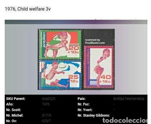 Sellos: Sellos de Antillas Holandesas nuevos. 1976. Como llevar niño. Infancia. Madre. - Foto 6 - 118021891