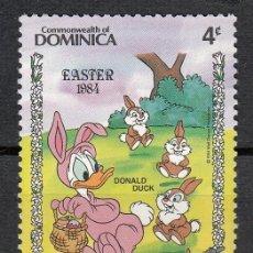 Sellos: DOMINICA 1984 - WALT DISNEY . PATO DONALD - 1 SELLO. Lote 118572619