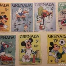 Sellos: SELLOS MICKEY MOUSE, GOOFY Y DONALD. DISNEY. ISLA DE GRANADA. Lote 118860855